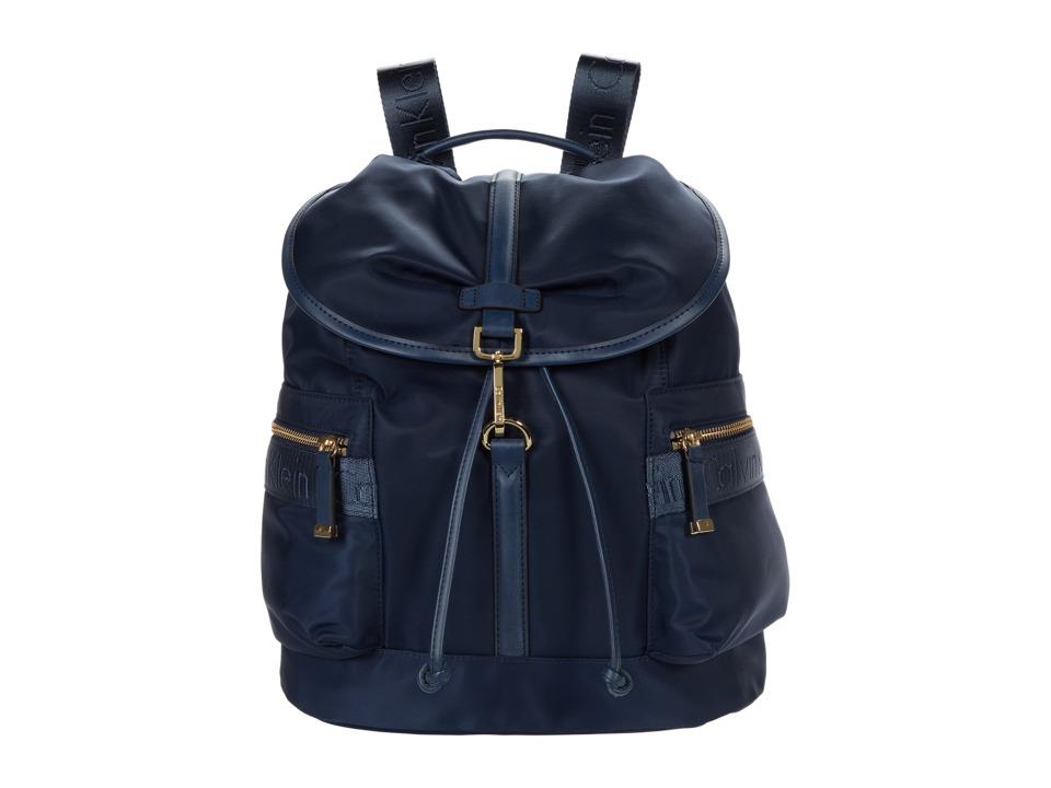 Calvin Klein - Nylon Backpack (Navy) Backpack Bags