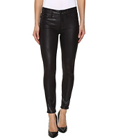 7 For All Mankind - The Knee Seam Ankle Skinny in Black Metal Snake