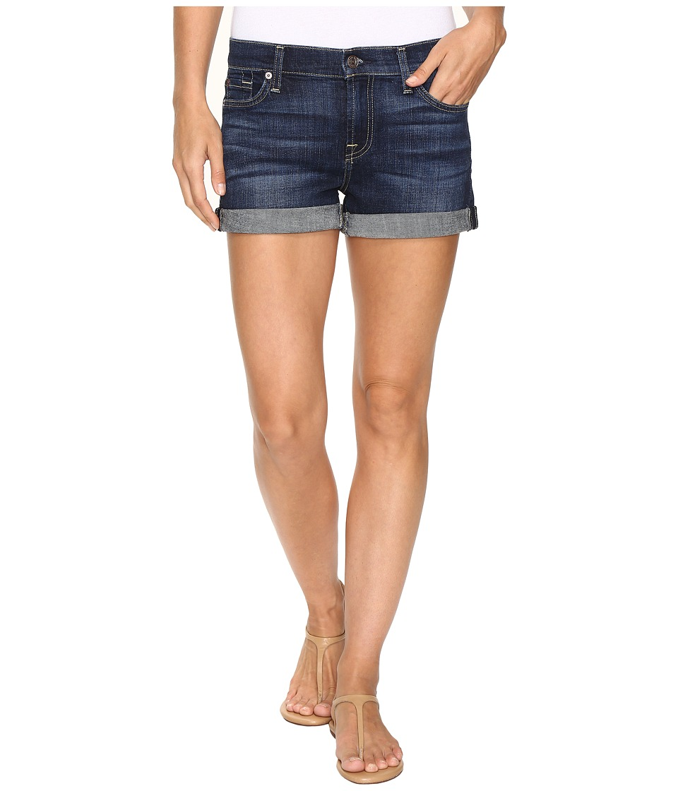 7 For All Mankind - Roll Up Shorts in Nouveau New York Dark
