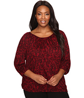 MICHAEL Michael Kors - Plus Size Umbria Lace Peasant Top