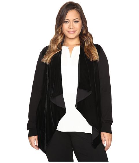 MICHAEL Michael Kors Plus Size Velvet Drape Front Sweater
