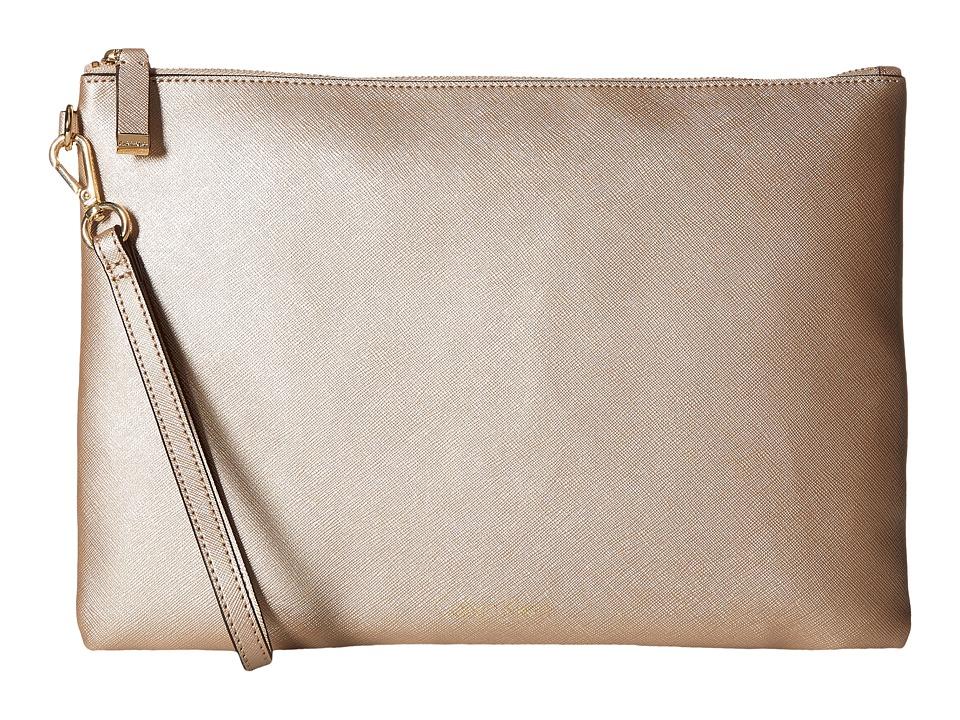 Calvin Klein - Assorted Saffiano Pouches (Metallic Taupe) Travel Pouch