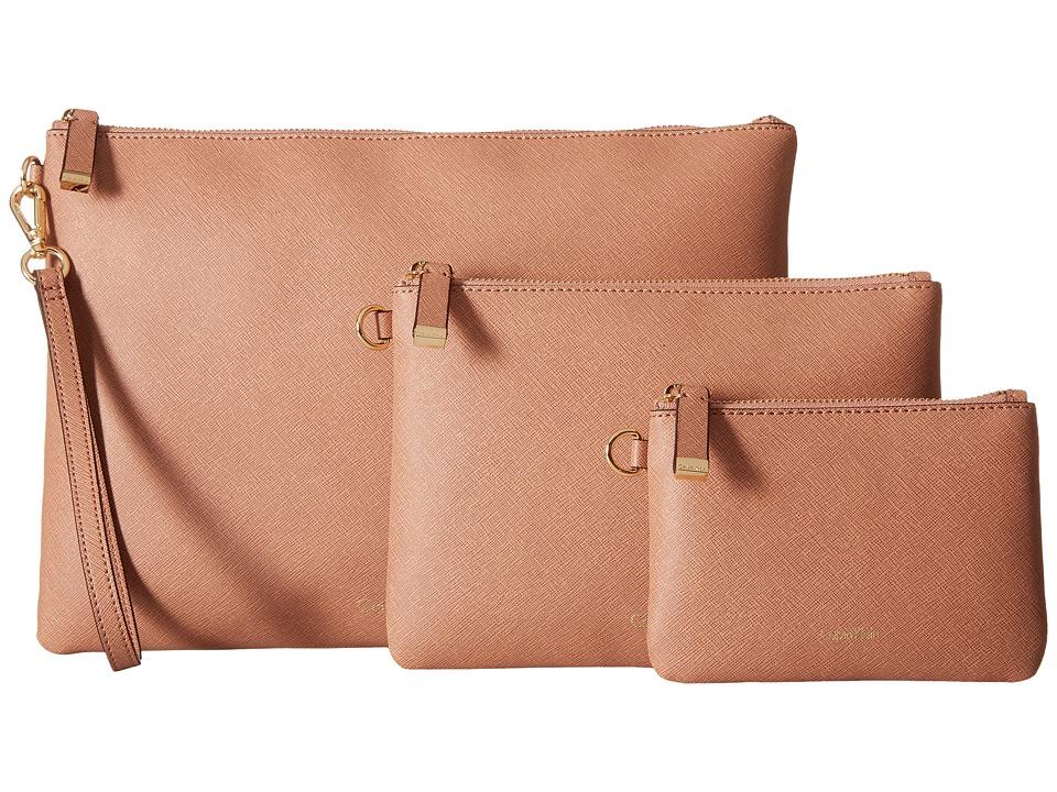 Calvin Klein - Assorted Saffiano Pouches (Deep Blush) Travel Pouch