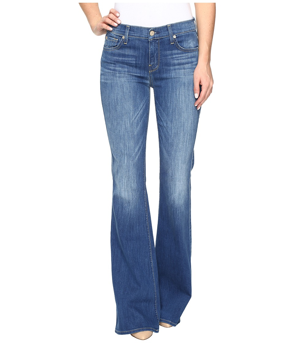 Image of 7 For All Mankind - Ali Flare in Newcastle Broken Twill 2 (Newcastle Roken Twill 2) Women's Jeans