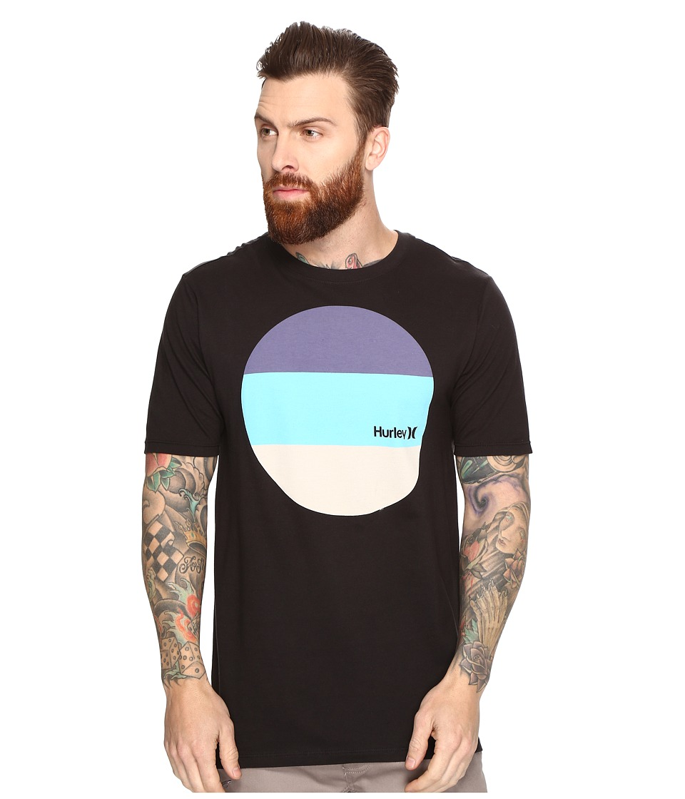 Hurley Circular Block T-Shirt (Black) Men
