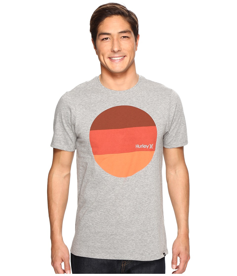 Hurley Circular Block T-Shirt (Dark Grey Heather) Men