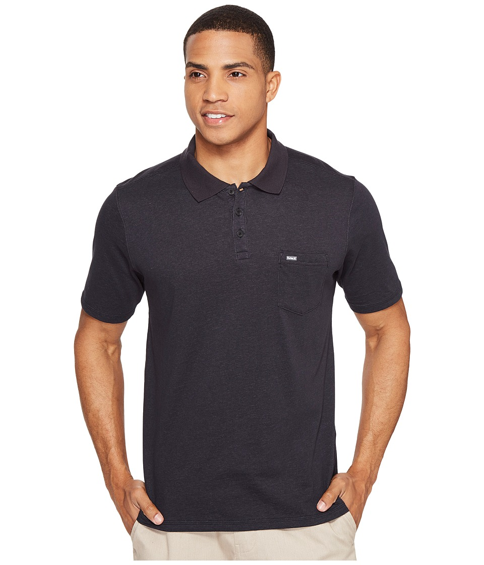 Hurley Dri-Fit Lagos Polo (Black 2) Men's Clothing