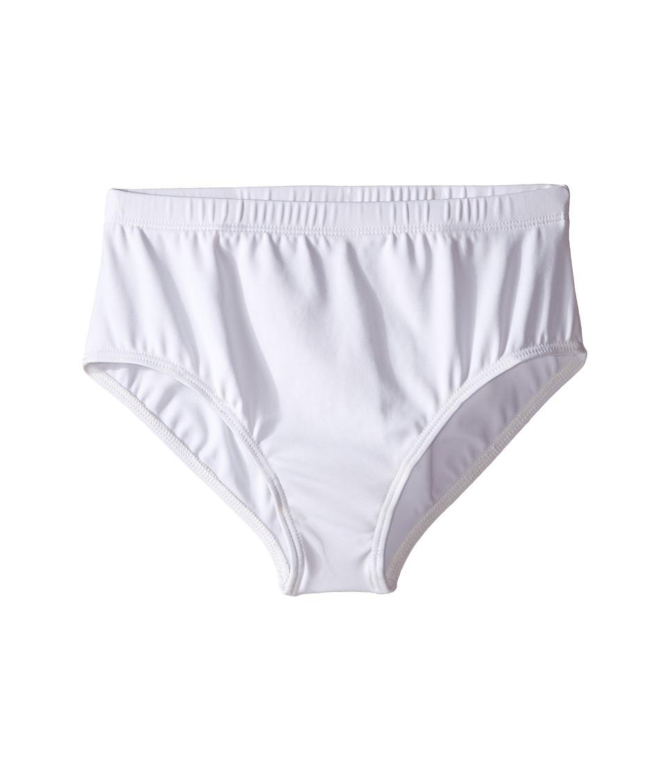 Capezio Kids - Team Basic Brief (Little Kids/Big Kids) (White) Girl's Underwear