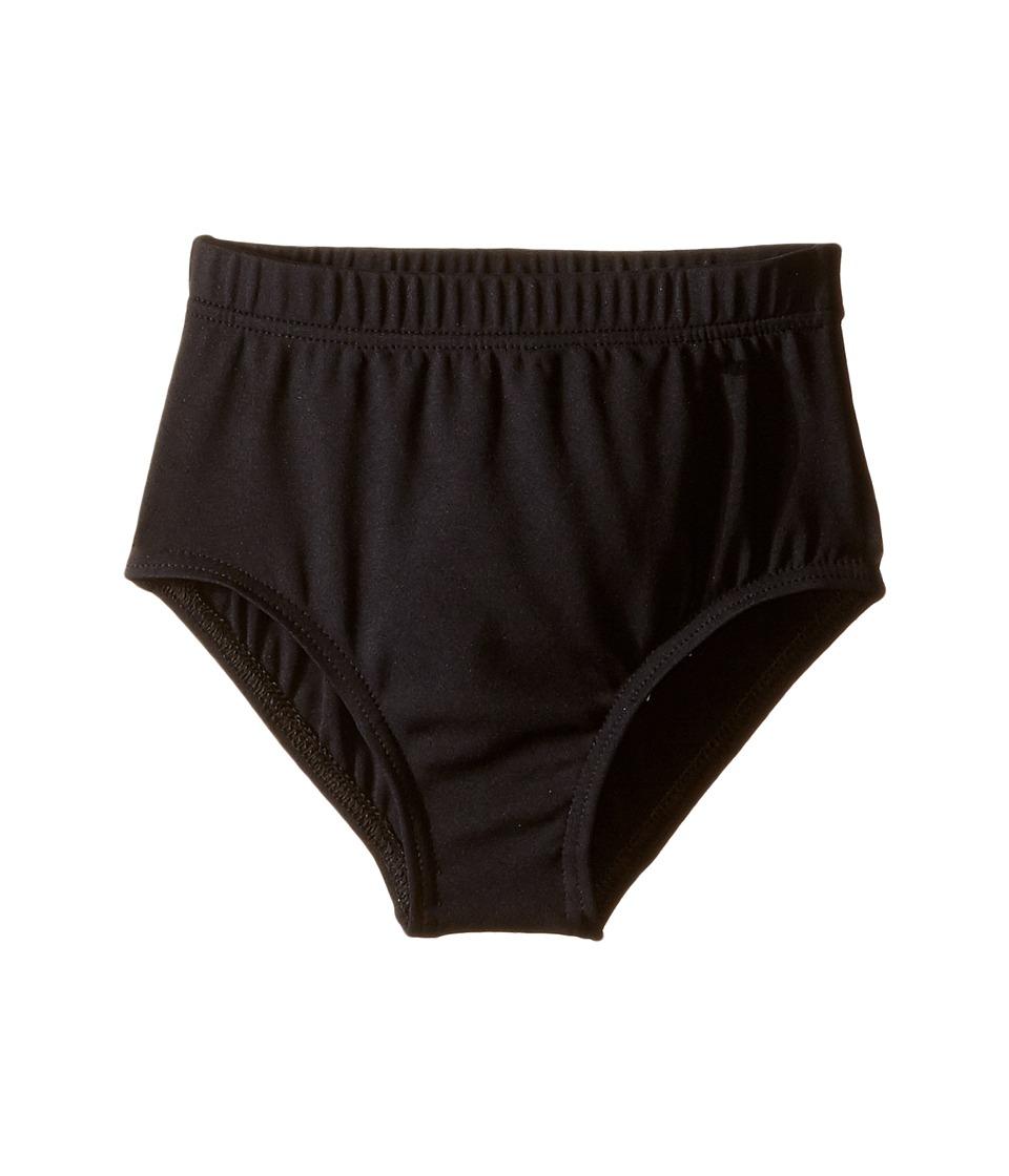 Capezio Kids - Team Basic Brief (Little Kids/Big Kids) (Black) Girl's Underwear