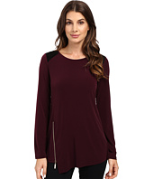 Ivanka Trump - Long Sleeve Matte Jersey with Side Zipper