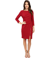 Ivanka Trump - Long Sleeve Ponte Dress with Side Zipper