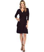 Ivanka Trump - Faux Wrap Matte Jersey Dress