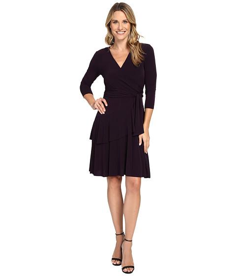 Ivanka Trump Faux Wrap Matte Jersey Dress