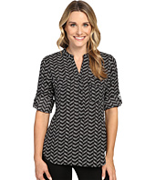 Ivanka Trump - Chevron Printed Blouse