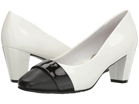 Soft Style Mabry - White Patent/Black