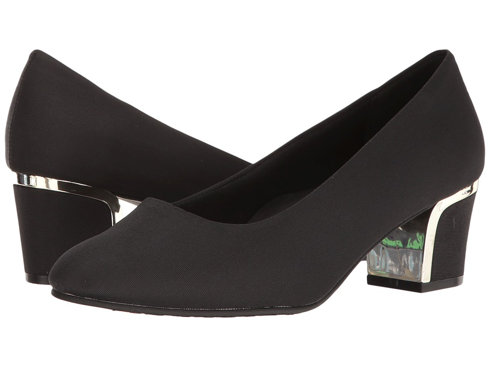 Soft Style Deanna (Black Grosgrain) 1-2 inch heel Shoes