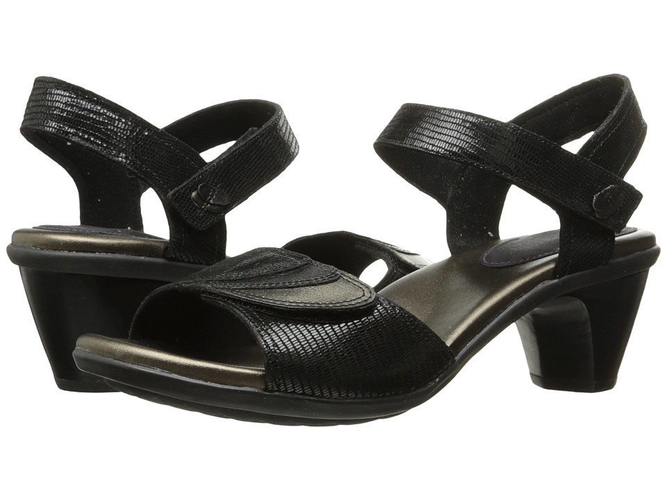 Aravon Medici Sandal (Black) Sandals
