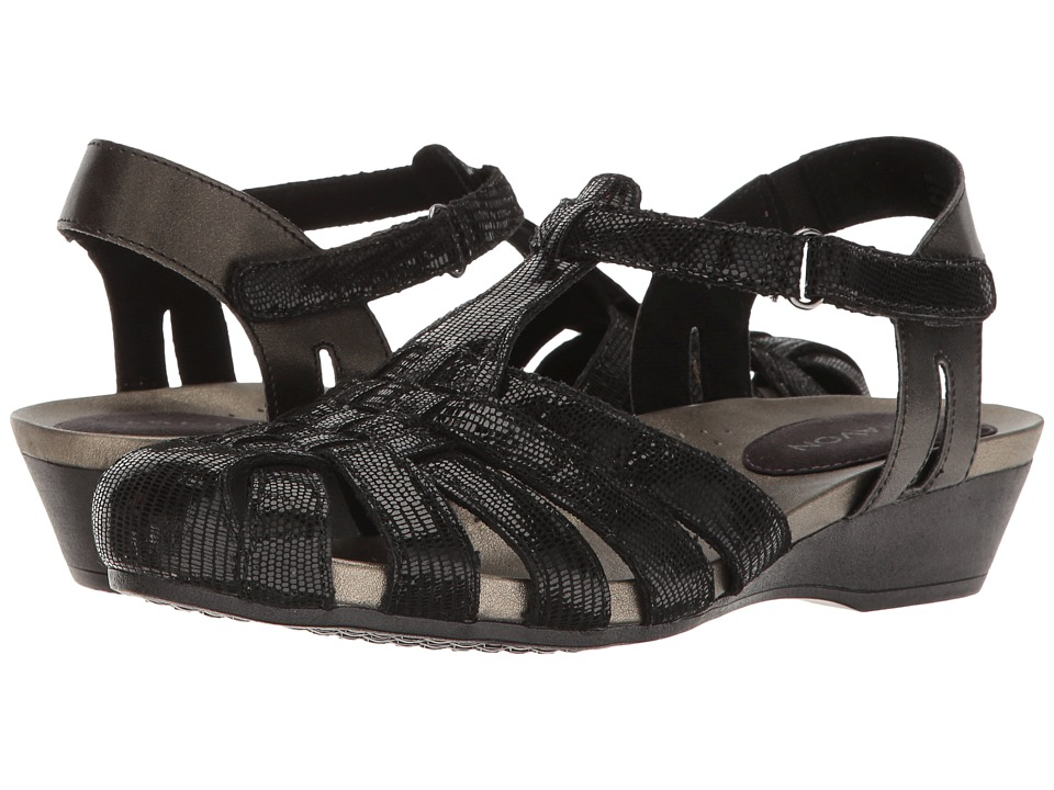 Aravon Standon Fisherman (Black) Sandals