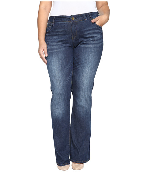 KUT from the Kloth Plus Size Natalie High-Rise Bootcut Jeans in Adaptive