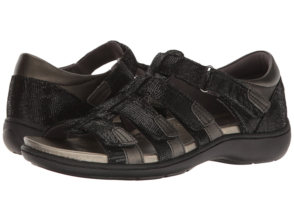 Aravon Bromly Gladiator (Black) Women's Sandals