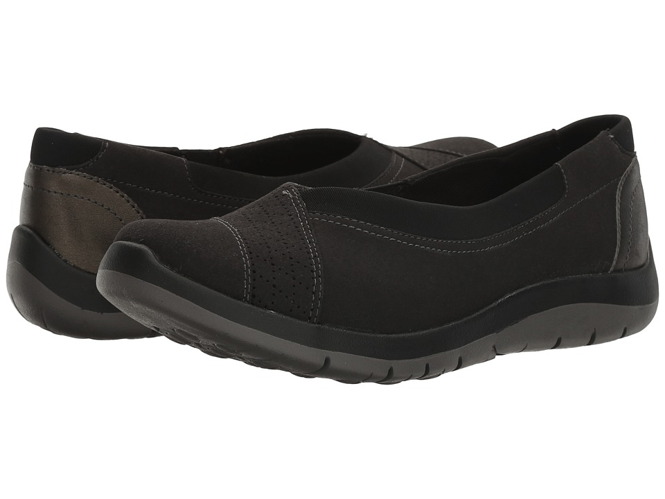 Aravon Wembly Envelope (Black) Slip-On Shoes