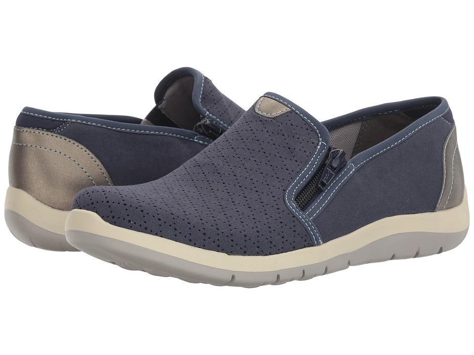 Aravon Wembly Side Zip (Blue) Slip-On Shoes