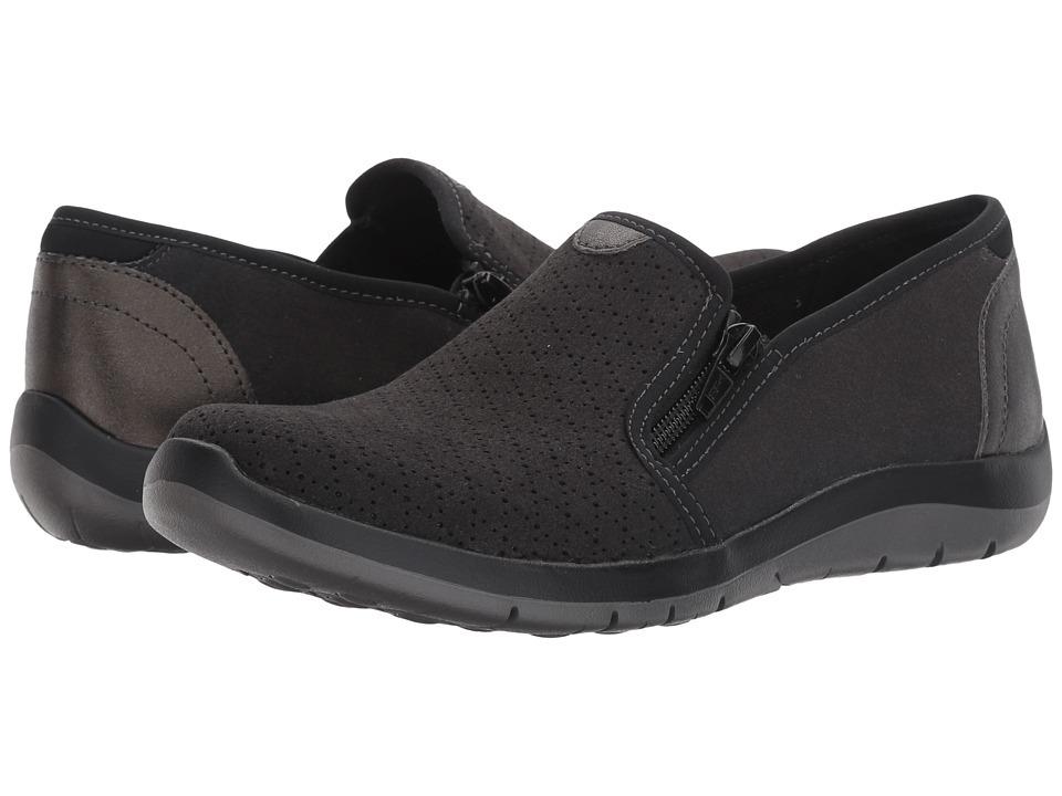 Aravon Wembly Side Zip (Black) Slip-On Shoes