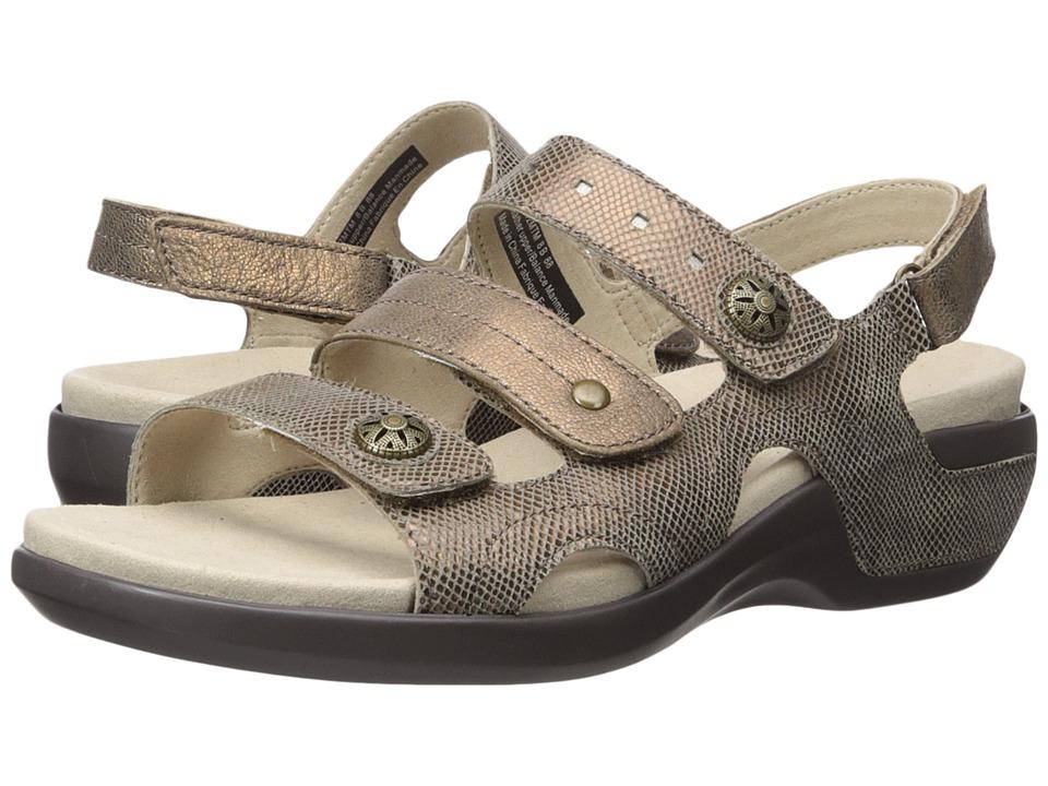Aravon - PC Three Strap (Metallic Taupe) Women's Sandals