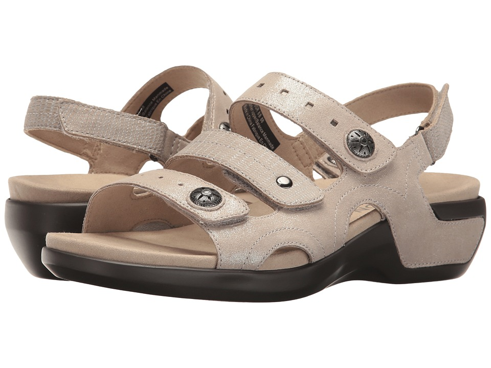 Aravon PC Three Strap (Metallic Sand) Sandals