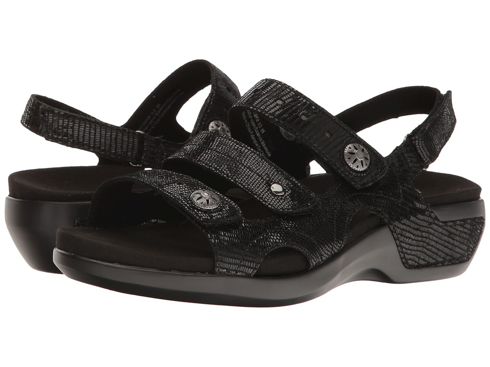Aravon PC Three Strap (Black) Sandals