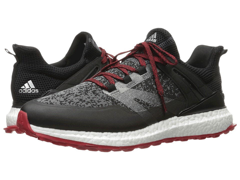 adidas Golf Crossknit Boost (Core Black/Onix/Scarlet) Men