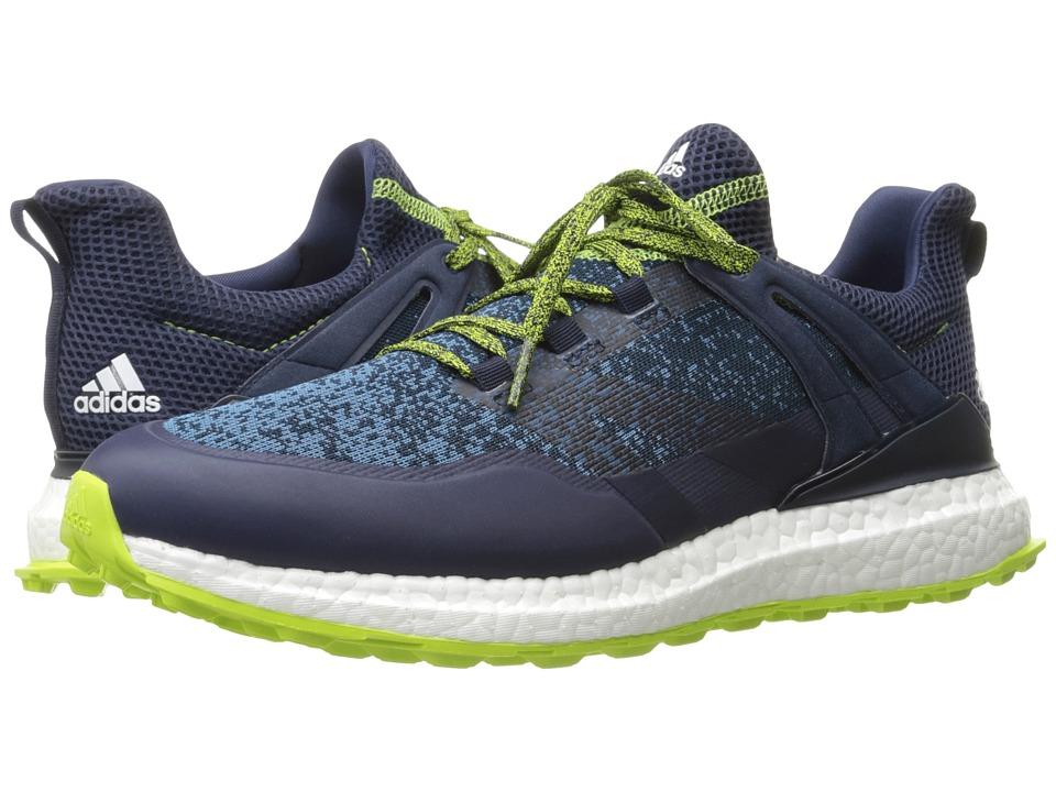 adidas Golf Crossknit Boost (Navy/Core Blue/Solar Slime) Men