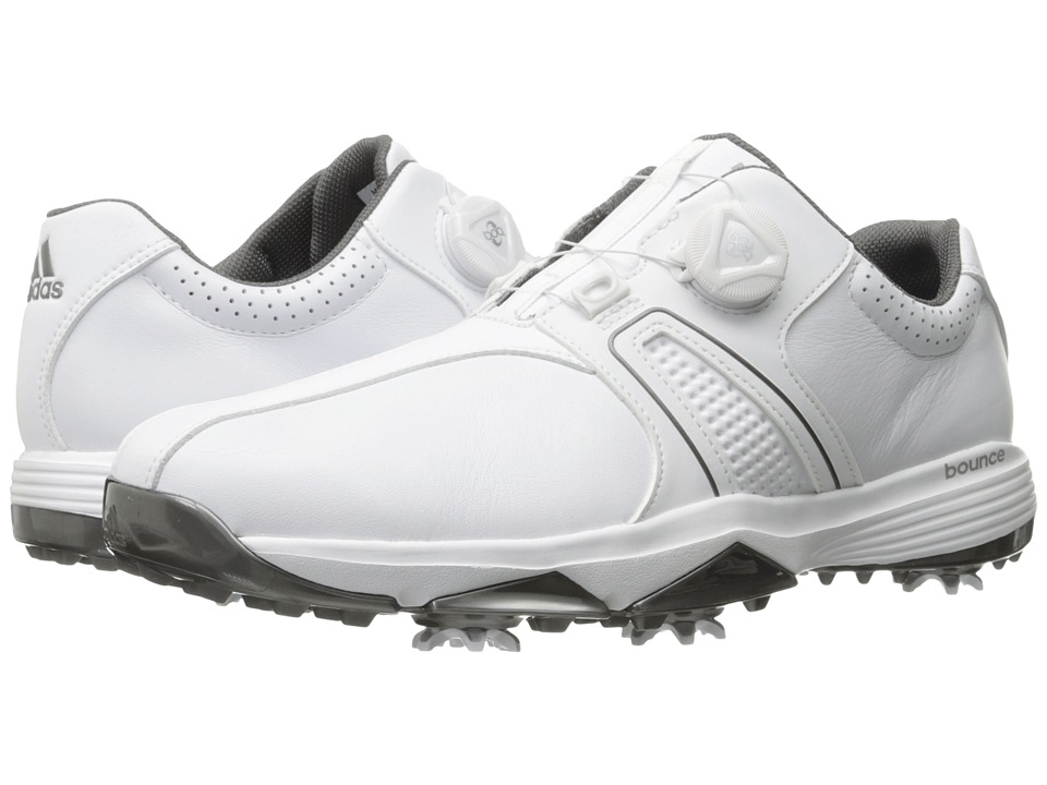 adidas Golf 360 Traxion Boa (Ftwr White/Ftwr White/Silver Metallic) Men