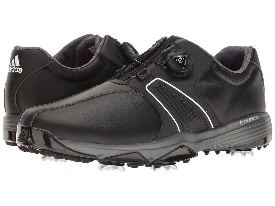 adidas Golf 360 Traxion Boa (Core Black/Ftwr White/Dark Silver Metallic) Men