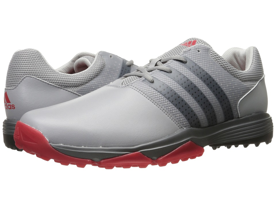 adidas Golf - 360 Traxion (Light Onix/Core Black/Scarlet) Mens Golf Shoes