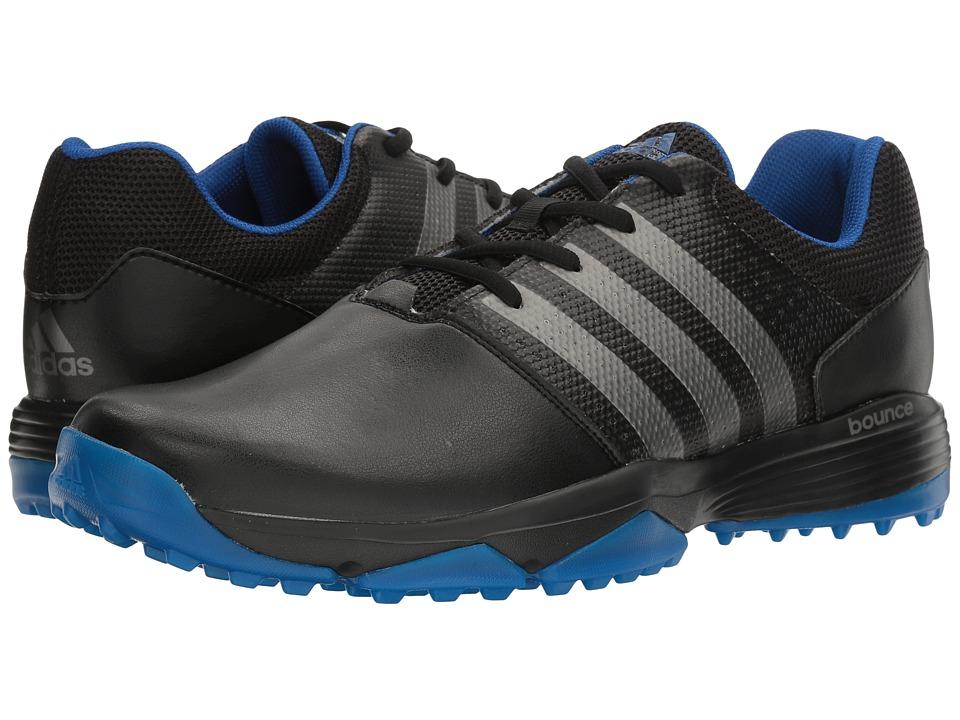 Image of adidas Golf - 360 Traxion (Core Black/Dark Silver Metallic/Royal) Men's Golf Shoes