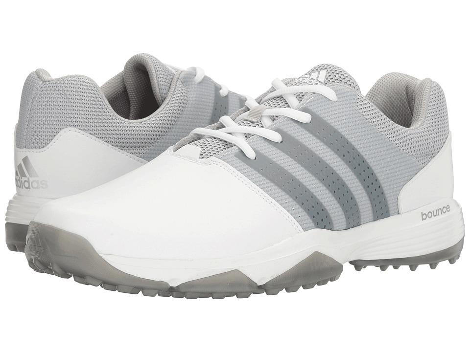 Image of adidas Golf - 360 Traxion (Ftwr White/Silver Metallic/Silver Metallic) Men's Golf Shoes