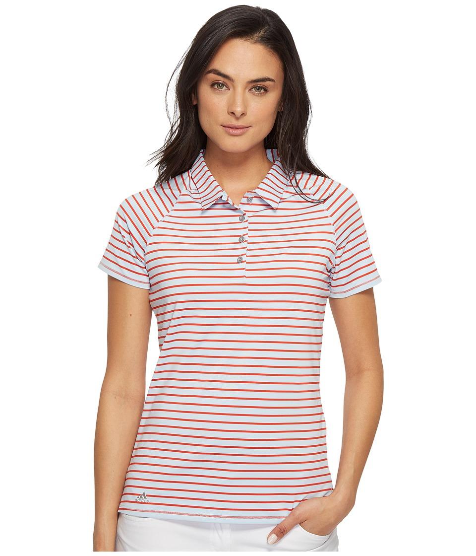 adidas Golf - Double Stripe Short Sleeve Polo