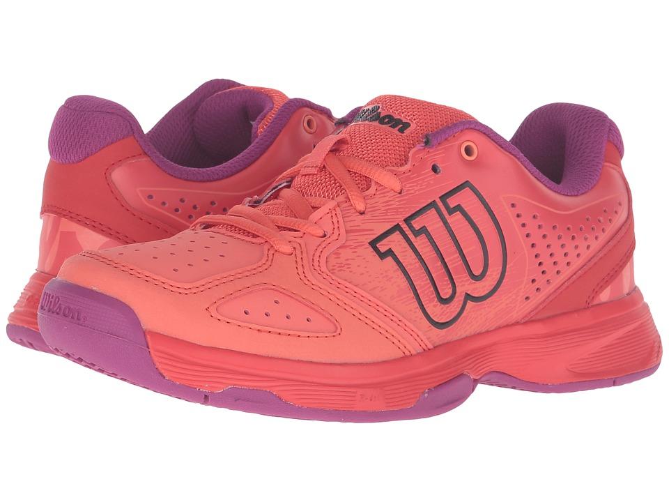 Wilson Kids - Jr Kaos Comp (Little Kid/Big Kid) (Radiant Red/Coral Punch) Kids Shoes