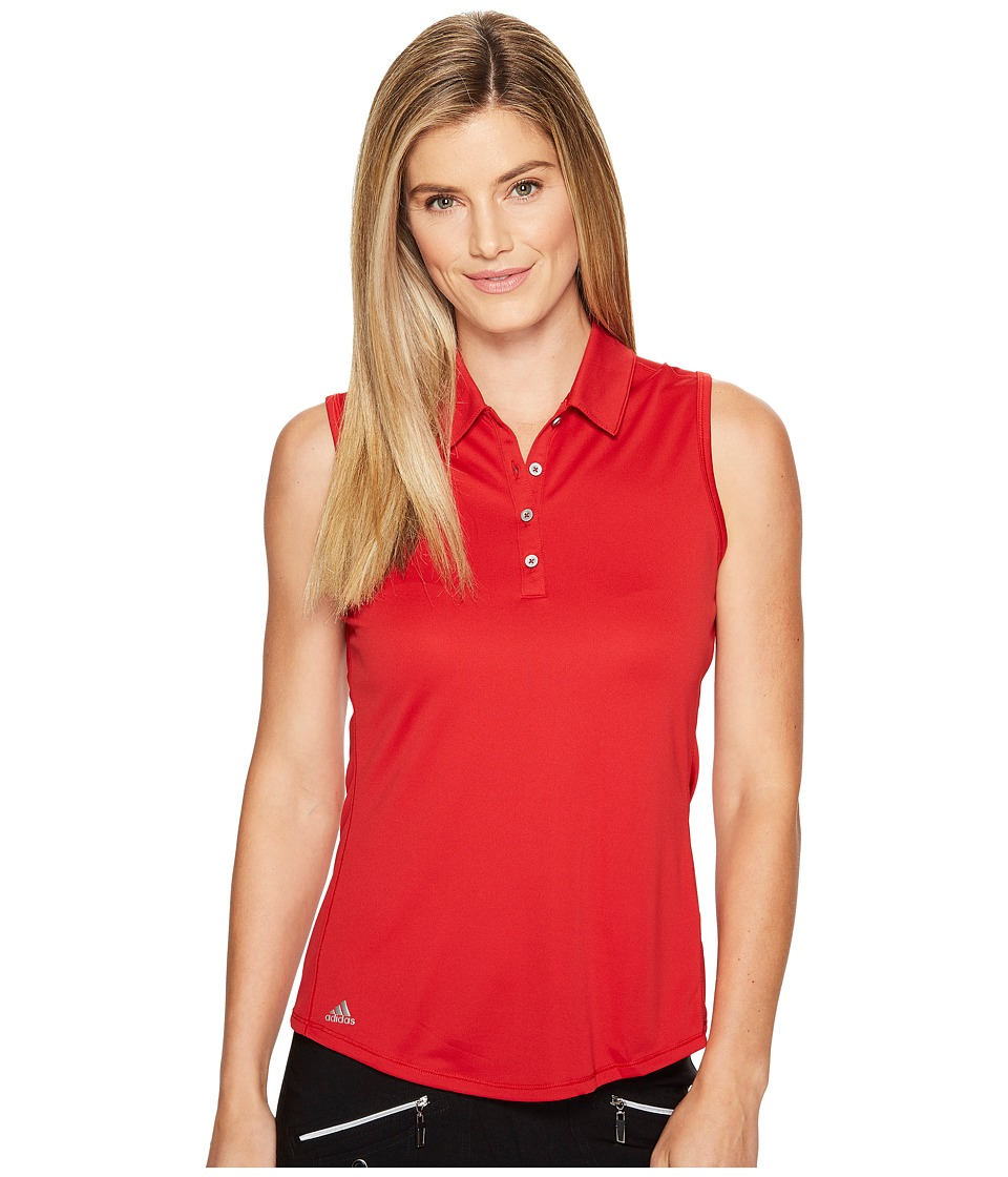 Adidas Golf - Performance Sleeveless Polo (Power Red) Wom...