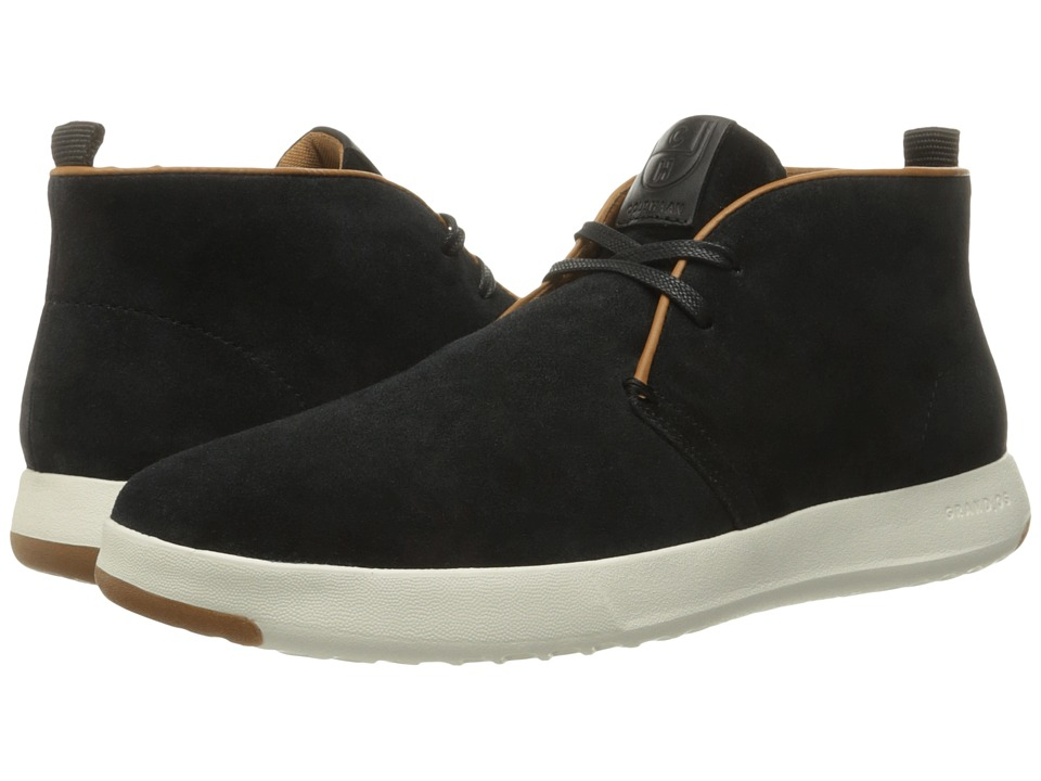 Cole Haan GrandPro Chukka (Black Oiled Velour Suede) Men