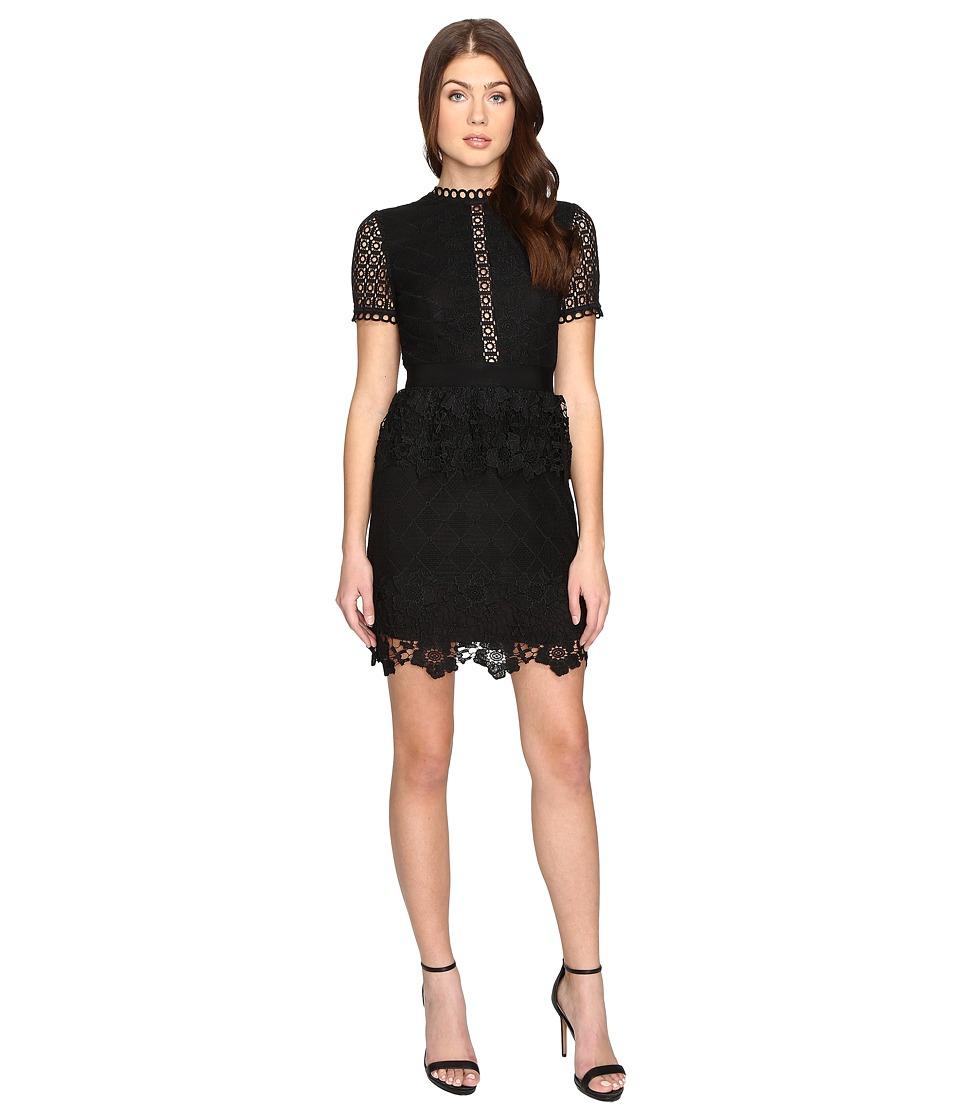 Ted Baker Dixa Layered Lace Skater Dress (Black) Women