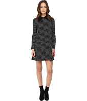M Missoni - Spacedye Long Sleeve Dress w/ Collar