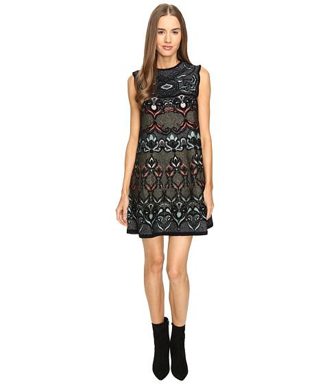 M Missoni Lurex Floral Jaquard A-Line Dress