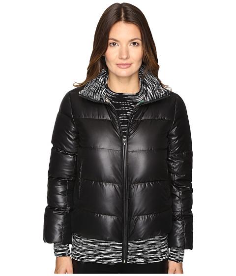 M Missoni Solid Puffer Coat w/ Spacedye Trim