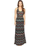 M Missoni - Lurex Ripple Halter Neck Maxi Dress