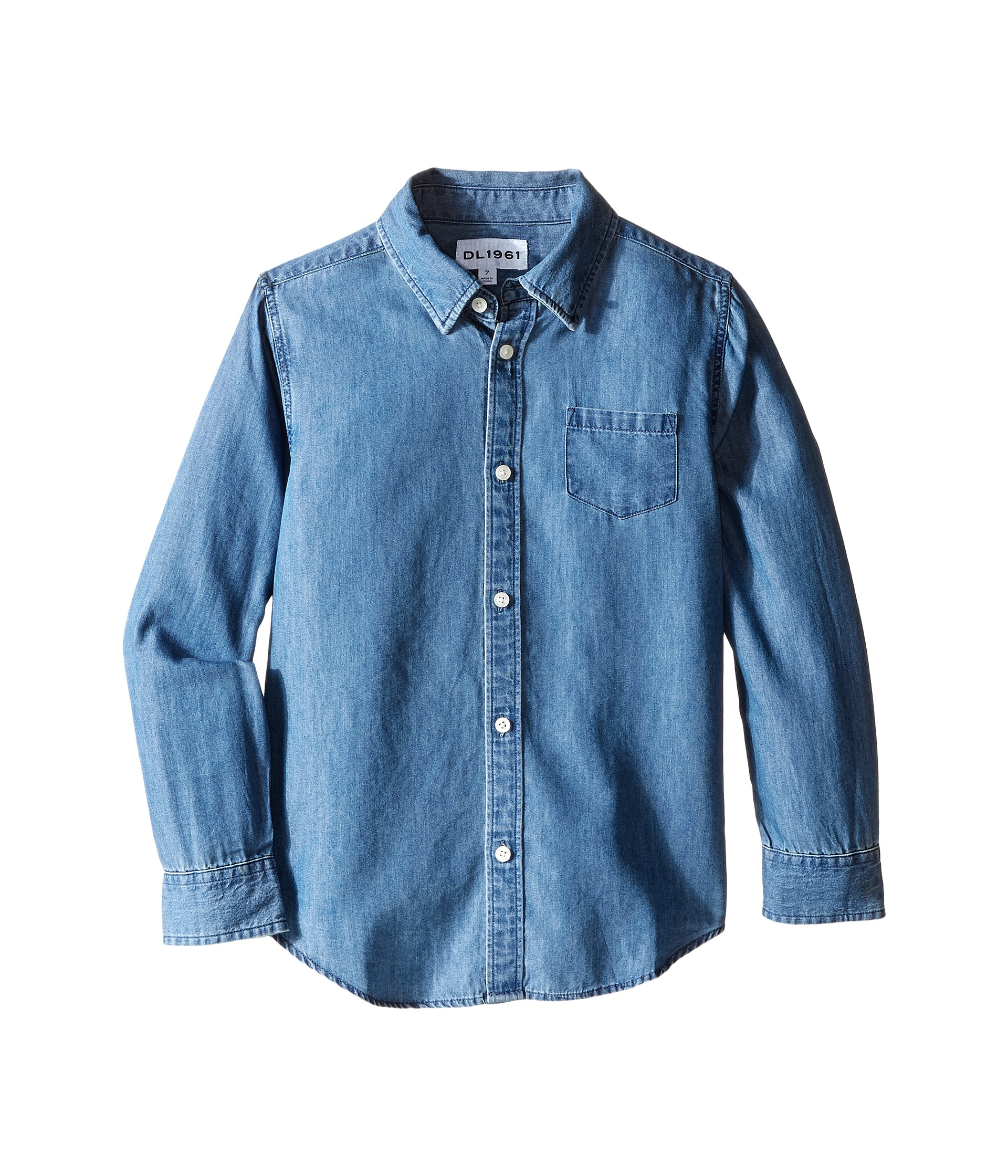 Dl1961 kids franklyn chambray shirt toddler little kids for Chambray shirt for kids