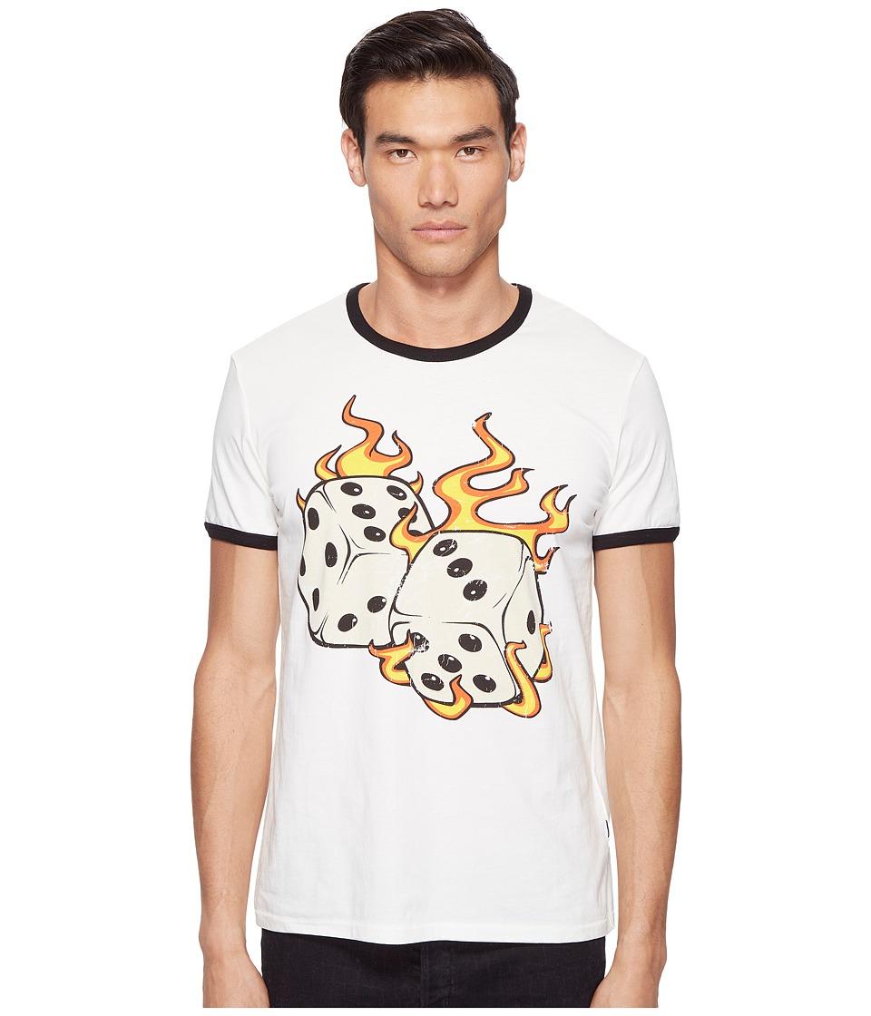 Just Cavalli Flaming Dice T-Shirt (White Milk) Men