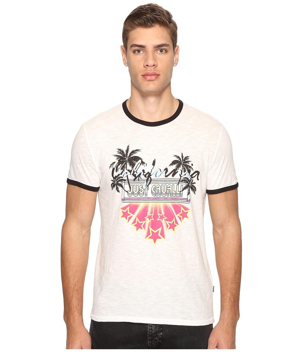 Just Cavalli Ringer T-Shirt (White Milk) Men