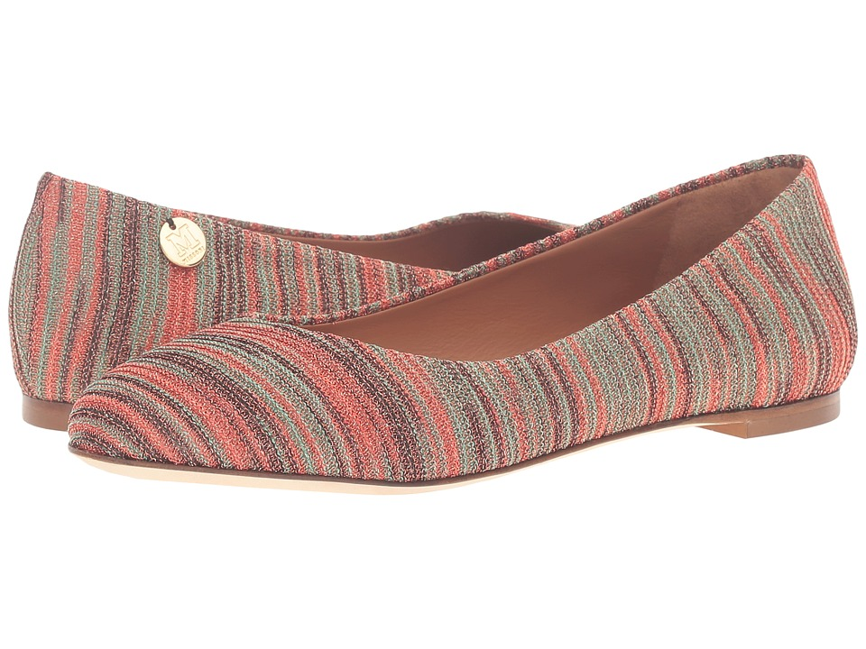 M Missoni Spacedye Ballerina Flat (Red) Women